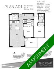 SFU Apartment for sale: The Peak 2 bedroom 827 sq.ft. (Listed 2018-07-07)